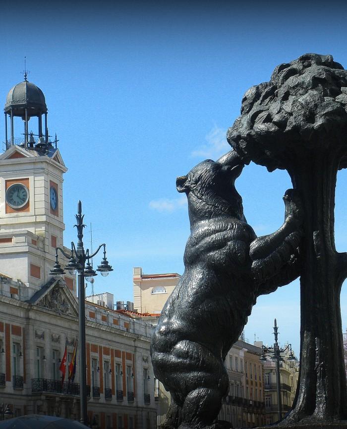 Puerta del Sol desde los apartamentos madrid por día