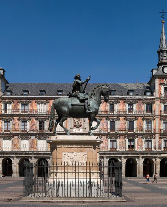 Plaza Mayor desde los apartamentos madrid por día